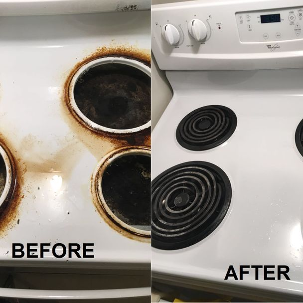 Dirty stove VS. clean stove